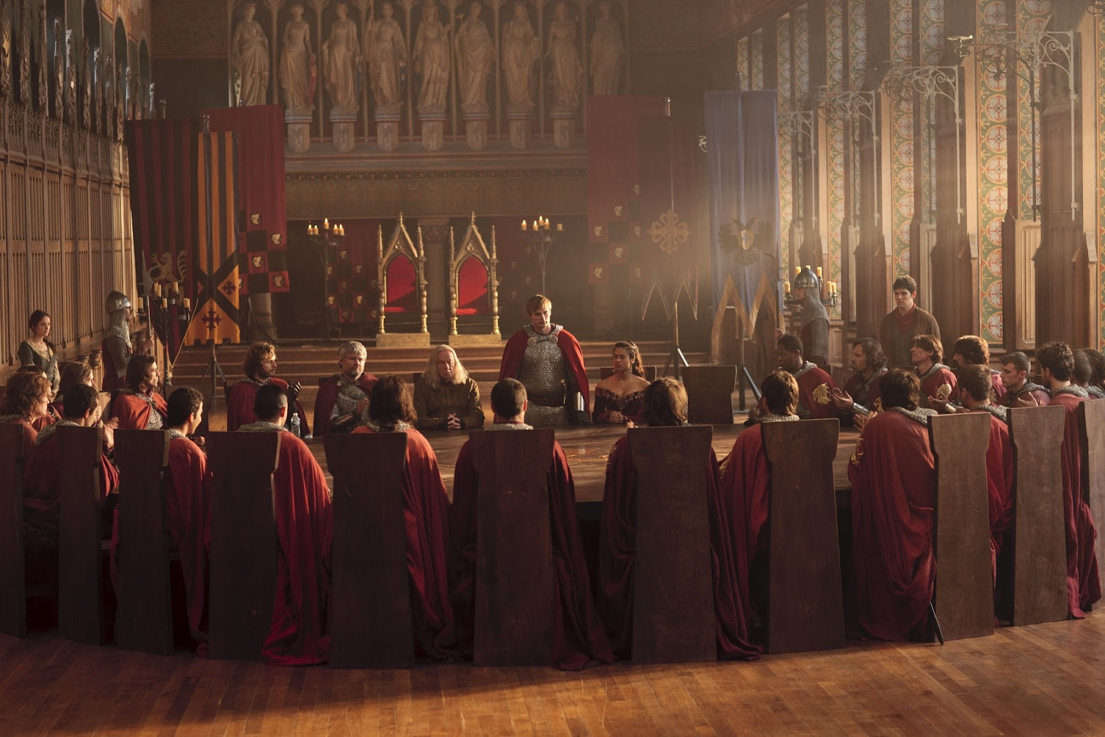king arthur and his knights of the round table Most of the story material in knights of the round table is lifted from sir thomas adapted for his unfinished novel on king arthur and his noble knights.