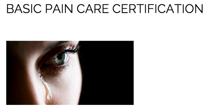 4.5 pain care cert